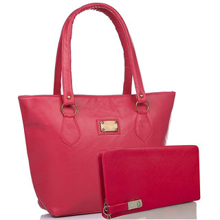 Clementine Women's Combo Of Handbag And Wallet( Pink/sskclem216)
