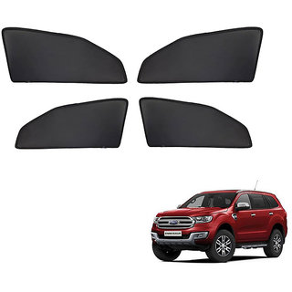 Generic Z Black  Magnetic  Curtain Car Sunshades Set Of 4-Ford Endeavour New