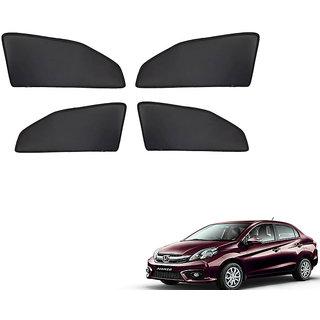 Generic Z Black  Magnetic  Curtain Car Sunshades Set Of 4-Honda Amaze