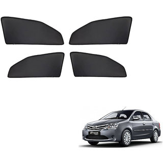 Generic Z Black  Magnetic  Curtain Car Sunshades Set Of 4-Toyota Etios