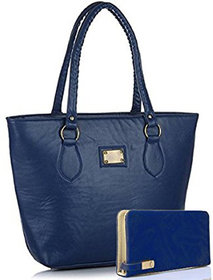 Clementine Women's Handbag And Clutch Combo (Combo-Basic-Blue, 40X30X10 Cm)(sskclem217)