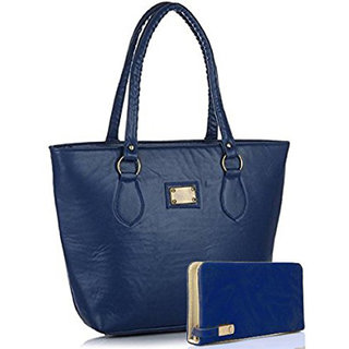 Clementine Women's Handbag And Clutch Combo (Combo-Basic-Blue, 40X30X10 Cm)(sskclem217)