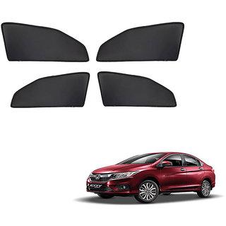 Generic Z Black  Magnetic  Curtain Car Sunshades Set Of 4-Honda City I Vtech