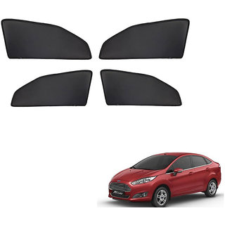 Generic Z Black  Magnetic  Curtain Car Sunshades Set Of 4-Ford Fiesta