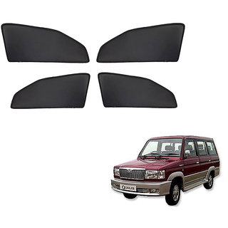 Generic Z Black  Magnetic  Curtain Car Sunshades Set Of 4-Toyota Qualis