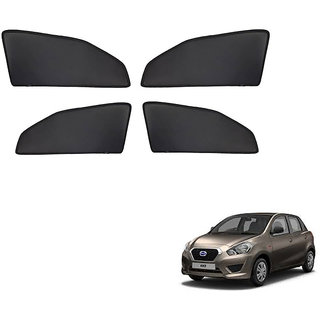 Generic Z Black  Magnetic  Curtain Car Sunshades Set Of 4-Datsun Go