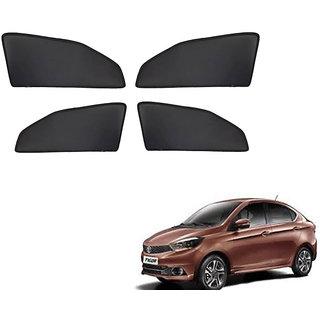 Generic Z Black  Magnetic  Curtain Car Sunshades Set Of 4-Tata Tigor