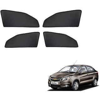 Generic Z Black  Magnetic  Curtain Car Sunshades Set Of 4-Chevrolet Sail