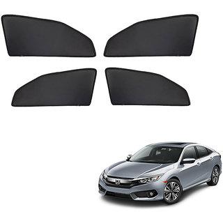 Generic Z Black  Magnetic  Curtain Car Sunshades Set Of 4-Honda Civic