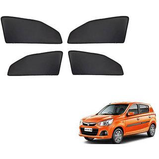 Generic Z Black  Magnetic  Curtain Car Sunshades Set Of 4-Maruti Suzuki Alto K10