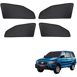 Generic Z Black  Magnetic  Curtain Car Sunshades Set Of 4-Chevrolet Tavera