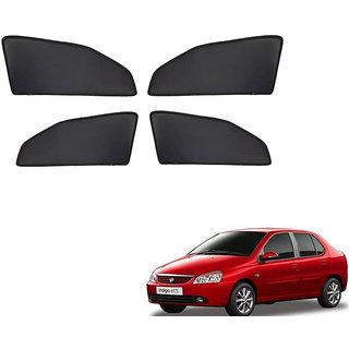Generic Z Black  Magnetic  Curtain Car Sunshades Set Of 4-Tata Indigo