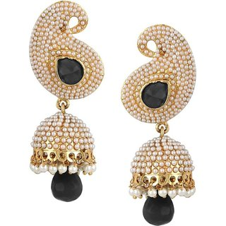 Penny Jewels Antique Traditional Gold Plated Fancy Jhumki Set For Women  Girls