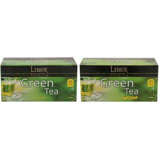 Lemor Premium Green Tea with Lemon Green Tea - Pack of 2 (Each pack contains 25 Tea Bags)