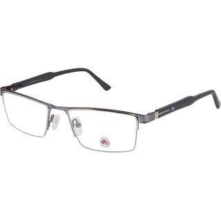 3e5ee3059bf33 Buy David Blake Grey Half Rim Rectangular Unisex Spectacle Frame Online -  Get 70% Off