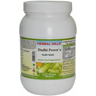 Organic Dudhi tablets supports healthy body functions, Pure Plant based product for all health issues in easy to swallow 120 tablets