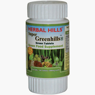 Herbalhills Green food Superfood Natural Anti-oxidant support. Easy to swallow 60 tablets