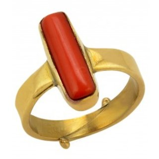 12 ratti Natural Red coral Adjustable ring