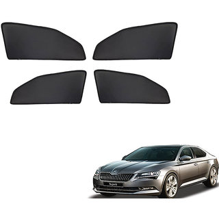 Generic Z Black  Magnetic  Curtain Car Sunshades Set Of 4-Skoda Superb