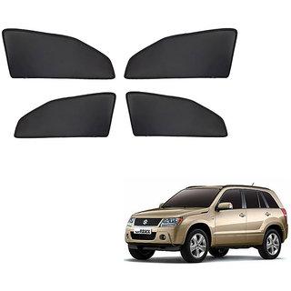 Generic Z Black  Magnetic  Curtain Car Sunshades Set Of 4-Maruti Suzuki Grand Vitara