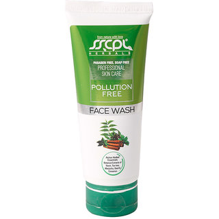 POLLUTION FREE FACE WASH (100ml) By SSCPL HERBALS