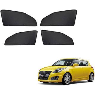 Generic Z Black  Magnetic  Curtain Car Sunshades Set Of 4-Maruti Suzuki Swift New (Type 2)