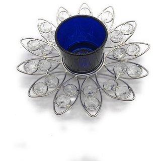 AuraDecor Crystal Tealight Holder with a Free Tealight