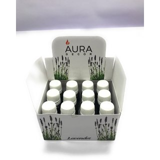 AuraDecor Set of 12 Lavender Undiluted Fragrance Aroma theraphy Oil, 10ml each