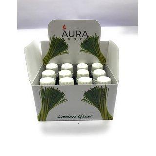 AuraDecor Set of 12 Lemongrass Undiluted Fragrance Aroma theraphy Oil, 10ml each