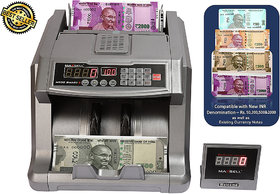 Maxsell-Mx50 Smart + Advance Compatible New INR Rs.50,200,Rs. 500  Rs. 2000 Currency Counting with Fake Detecting Curre