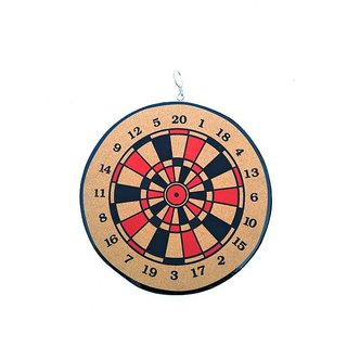 Both Side Playing 16 inch Dart Board (Multi color)