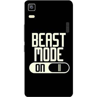 Print Opera Hard Plastic Designer Printed Phone Cover for Lenovo A7000 / lenovo K3 Note - Beast mode on