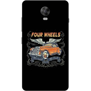 Print Opera Hard Plastic Designer Printed Phone Cover for Lenovo Vibe P1 / Vibe P1Turbo - Four wheels