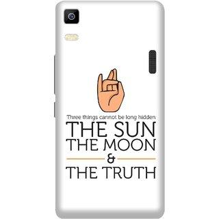 Print Opera Hard Plastic Designer Printed Phone Cover for Lenovo A7000 / lenovo K3 Note - The sun,Moon and truth