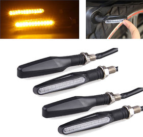 Allyours 4x Motorcycle Amber LED Turn Signal Bike Indicators Light Lamp For All Bikes