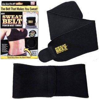 c64b9cb567 Buy Hot Shapers Sweat Waist Trimmer Fat Burner Belly Tummy Yoga Wrap  Exercise Body Slimming Belt(Black) Online - Get 76% Off