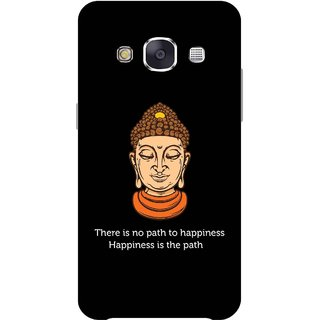 Print Opera Hard Plastic Designer Printed Phone Cover for Samsung Galaxy E7 2015 - There is no path to happiness