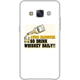 Print Opera Hard Plastic Designer Printed Phone Cover for Samsung Galaxy E7 2015 - Avoid hangover