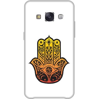 Print Opera Hard Plastic Designer Printed Phone Cover for Samsung Galaxy E7 2015 - Buddha hand