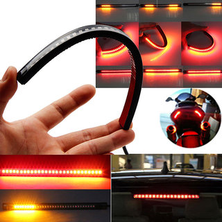Allyours Bike Flexible 48 LED DRL Strip Tail Brake Turn Signal Light For Enfield Royal