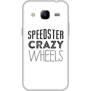 Print Opera Hard Plastic Designer Printed Phone Cover for Samsung Galaxy J2 2016 - Speedster crazy wheels