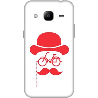 Print Opera Hard Plastic Designer Printed Phone Cover for Samsung Galaxy J2 2016 - Moustache with glasses
