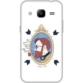 Print Opera Hard Plastic Designer Printed Phone Cover for Samsung Galaxy J2 2016 - Man with a ciggar