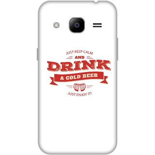 Print Opera Hard Plastic Designer Printed Phone Cover for Samsung Galaxy J2 2016 - Keep calm & drink beer