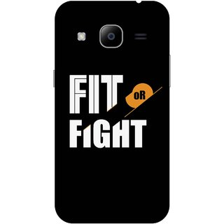 Print Opera Hard Plastic Designer Printed Phone Cover for Samsung Galaxy J2 2016 - Fit of fight