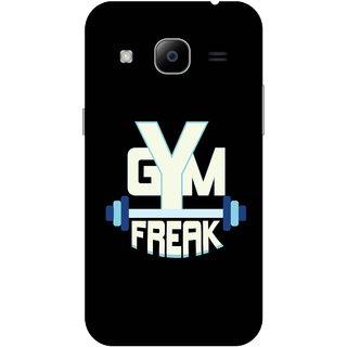 Print Opera Hard Plastic Designer Printed Phone Cover for Samsung Galaxy J2 2016 - Gym freak