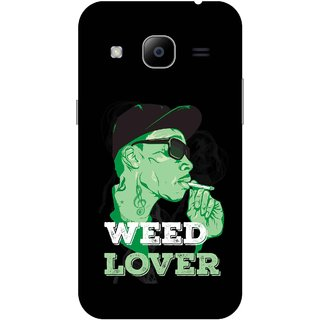 Print Opera Hard Plastic Designer Printed Phone Cover for Samsung Galaxy J2 2016 - Weed Lover