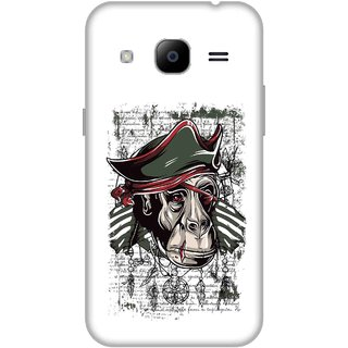 Print Opera Hard Plastic Designer Printed Phone Cover for Samsung Galaxy J2 2016 - Monkey