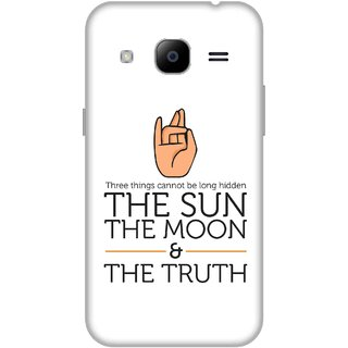 Print Opera Hard Plastic Designer Printed Phone Cover for Samsung Galaxy J2 2016 - The sun,Moon and truth
