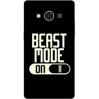 Print Opera Hard Plastic Designer Printed Phone Cover for Samsung Galaxy J3 Pro - Beast mode on